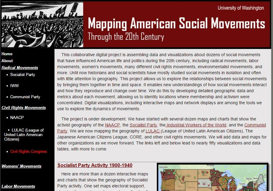 Mapping American Social Movements