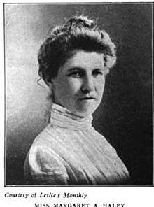 Margaret A. Haley  ca. 1903. Credit: Wikipedia