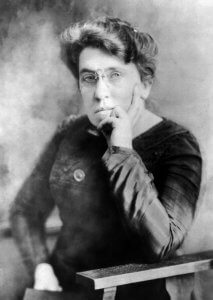 Photographic portrait of Emma Goldman, anarchist writer, activist, and thinker. Credit: Wikimedia Commons and the Library of Congress.