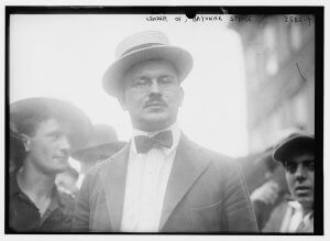Frank Tannenbaum at the Bayonne refinery strike in 1915. Credit: Wikimedia Commons and the Library of Congress.