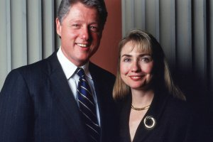 Hillary Clinton and Bill Clinton in 1991, shortly before the Arkansas governor said he was running for president. Credit: WSJ / Getty Images.