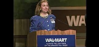Hillary Clinton joined the shift toward New Democrats, joining the board of anti-union WalMart corporation in the 1980s.